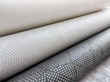 Grafik Tapete ATLAS XPL-590-0 Vliestapete strukturiert mit geometrischen Formen schimmernd anthrazit achat-grau grau silber-grau 5, 33 m2 - Vorschau 3