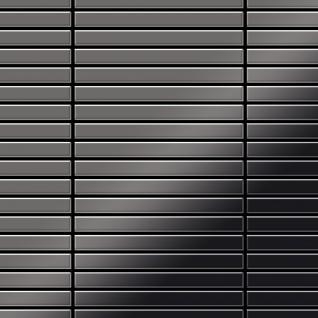 Mosaik Fliese massiv Metall Titan hochglänzend in dunkelgrau 1, 6mm stark ALLOY Linear-Ti-SM 0, 94 m2