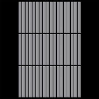 Mosaik Fliese massiv Metall Edelstahl matt in grau 1, 6mm stark ALLOY Linear-S-S-MA 0, 94 m2 - Vorschau 3