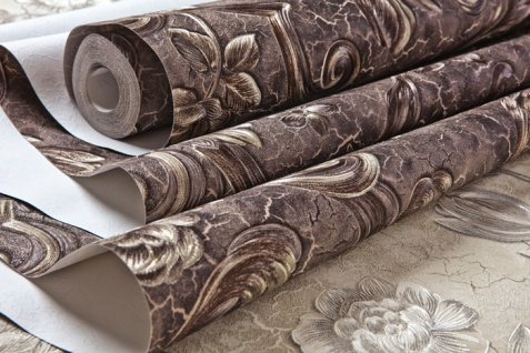 Blumen Tapete EDEM 9013-36 heißgeprägte Vliestapete geprägt mit floralen Ornamenten und metallischen Akzenten anthrazit braun-grau bronze silber 10, 65 m2 - Vorschau 2