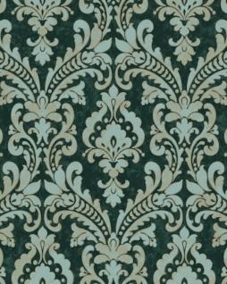 Barock Tapete Profhome VD219174-DI heißgeprägte Vliestapete geprägt im Barock-Stil schimmernd grün pastell-türkis elfenbein 5, 33 m2