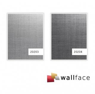Wandpaneel Metalloptik WallFace 20203 Refined Metal Silver AR Wandverkleidung glatt in gebürsteter Metall-Optik und mit metallischen Akzenten selbstklebend abriebfest silber silber-grau 2, 6 m2 - Vorschau 2