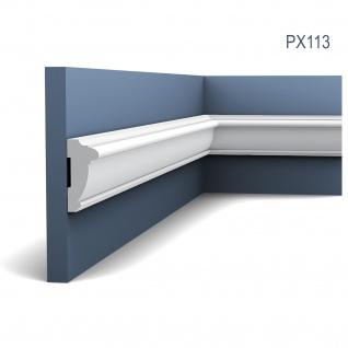 Profilleiste Friesleiste Stuck PX113 AXXENT Wandleiste Zierleiste Profil Wand Rahmen Dekor Element 2 Meter