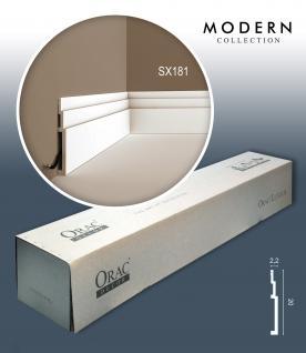 Orac Decor SX181 MODERN 1 Karton SET mit 7 Sockelleisten Zierleisten   14 m - Vorschau 1