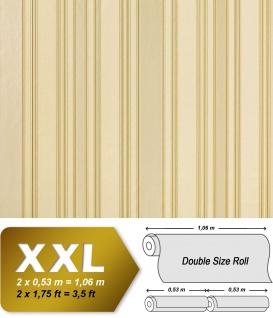 Streifen Tapete Vliestapete EDEM 980-33 Hochwertige Luxus Tapete gestreiftes Struktur-Dekor perl-weiß cremeweiß |10, 65 qm