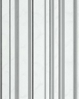 Streifen Tapete EDEM 059-26 Retro Sweet Summer Design Tapete stylisch gestreiftes Muster creme-weiß hell-grau graphite