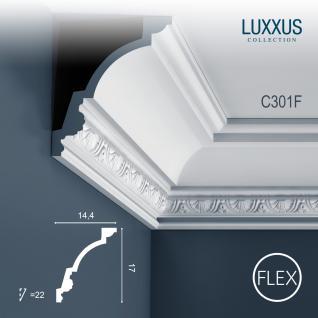 Eckleiste Orac Decor C301F LUXXUS flexible Leiste Zierleiste Deckenleiste Stuckgesims Wand Dekor Leiste 2 Meter