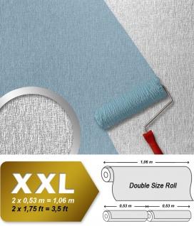 Überstreichbare Struktur Tapete EDEM 374-60 Struktur Dekorative Decken Wand Vlies-Tapete weiss 26, 50 qm
