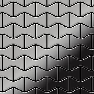 Mosaik Fliese massiv Metall Edelstahl marine hochglänzend in grau 1, 6mm stark ALLOY Kismet-S-S-MM Designed by Karim Rashid 0, 86 m2 - Vorschau 1
