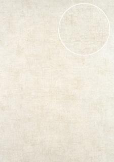 Uni Tapete ATLAS CLA-601-2 Vliestapete glatt im Used Look schimmernd silber grau-beige perl-beige 5, 33 m2