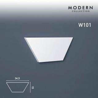 3D Wandpaneel Orac Decor W101 MODERN TRAPEZIUM Zierlement Modernes Design weiß