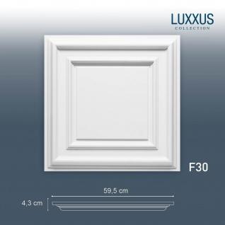 3D Wand Paneel Zierelement Orac Decor F30 LUXXUS Deckenplatte Deckenpaneel für Tür oder Decke Polyurethan | 60 x 60 cm
