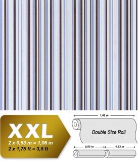 Streifen Vliestapete EDEM 967-26 XXL Streifen-Muster hochwertige Designer Tapete braun blau beige 10, 65 qm