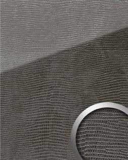 Wandpaneel Glas-Optik WallFace 18095 LEGUAN Nero AR+ Dekor Wandverkleidung abriebfest selbstklebend schwarz 2, 6 m2