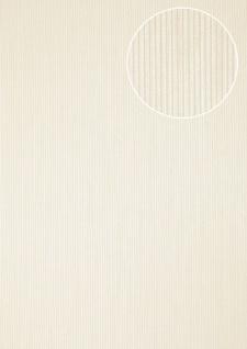 Edle Streifen Tapete Atlas COL-558-1 Vliestapete strukturiert mit Struktur schimmernd weiß creme-weiß 5, 33 m2