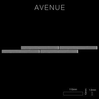 Mosaik Fliese massiv Metall Edelstahl hochglänzend in grau 1, 6mm stark ALLOY Avenue-S-S-M 0, 74 m2 - Vorschau 2