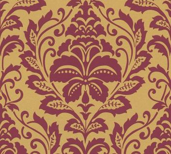 Barock Tapete Profhome 369103-GU Vliestapete glatt im Barock-Stil glänzend gold rot 5, 33 m2