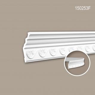 Eckleiste PROFHOME 150253F Stuckleiste Flexible Leiste Zierleiste Neo-Empire-Stil weiß 2 m