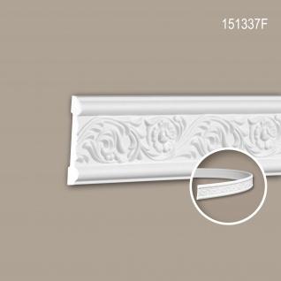 Wand- und Friesleiste PROFHOME 151337F Stuckleiste Flexible Leiste Zierleiste Rokoko Barock Stil weiß 2 m