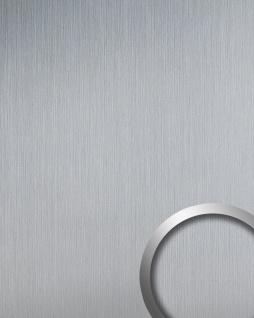 Wandverkleidung Design Platte WallFace 14409 DECO EyeCatch Metall Dekor selbstklebende Tapete silber matt gebürstet 2, 60 qm