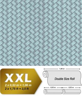 Grafik Tapete EDEM 81121BR17 Vliestapete glatt mit abstraktem Muster glitzernd grün mint grau 10, 65 m2