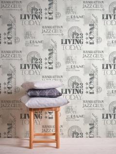 Grafik Tapete Profhome 368122-GU Vliestapete glatt mit abstraktem Muster matt schwarz weiß 5, 33 m2 - Vorschau 5