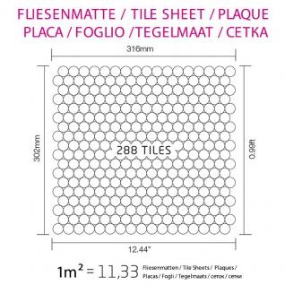 Mosaik Fliese massiv Metall Edelstahl hochglänzend in grau 1, 6mm stark ALLOY Penny-S-S-M 0, 88 m2 - Vorschau 5