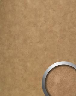 Wandpaneel Vintage Look WallFace 19397 CLASSY BRONZE Wandverkleidung glatt in Metall Optik glänzend selbstklebend bronze 2, 6 m2