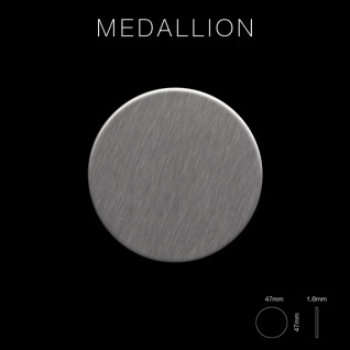 Mosaik Fliese massiv Metall Edelstahl gebürstet in grau 1, 6mm stark ALLOY Medallion-S-S-B 0, 73 m2 - Vorschau 2