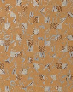 Stein Tapete EDEM 745-26 Tapete Mystic Arts Collage abstraktes Mosaik-muster hochwertige Prägequalität Ockerbraun silber