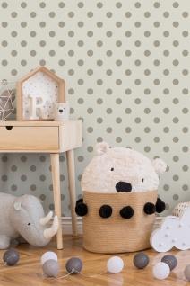 Kinder Tapete Profhome 369341-GU Vliestapete glatt mit geometrischen Formen matt beige rosa weiß 5, 33 m2 - Vorschau 2