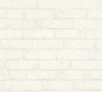 Stein Kacheln Tapete Profhome 907851-GU Vliestapete glatt in Steinoptik matt grau beige 5, 33 m2
