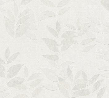 Natur Tapete Profhome 372611-GU Vliestapete leicht strukturiert mit floralen Ornamenten matt grau beige weiß 5, 33 m2