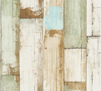 Holz Tapete Profhome 368942-GU Vliestapete glatt in Holzoptik matt beige braun creme-weiß 5, 33 m2