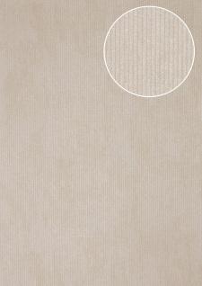 Luxus Struktur Tapete Atlas COL-563-4 Vliestapete Luxus Strukturiert Ton-in-Ton schimmernd grau licht-grau silber 5, 33 m2