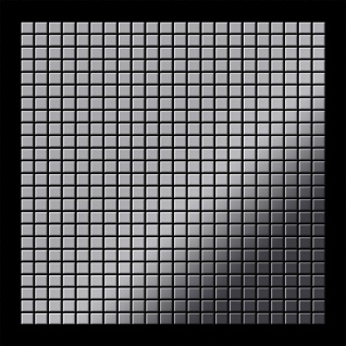 Mosaik Fliese massiv Metall Edelstahl marine hochglänzend in grau 1, 6mm stark ALLOY Glomesh-S-S-MM 1, 07 m2 - Vorschau 3