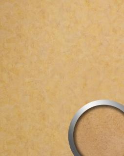 Wandverkleidung Vintage Look WallFace 19208 SILENT GOLD Dekorpaneel glatt in Metall Optik glänzend selbstklebend abriebfest gold bronze 2, 6 m2