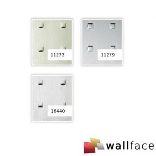 Wandpaneel 3D WallFace 11273 SQUARE Struktur Decorplatte Metalloptik Dekorpaneel selbstklebend edelstahl grau 2, 60 qm - Vorschau 2