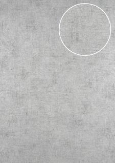 Uni Tapete ATLAS CLA-598-7 Vliestapete glatt im Used Look schimmernd silber perl-weiß perl-hell-grau 5, 33 m2