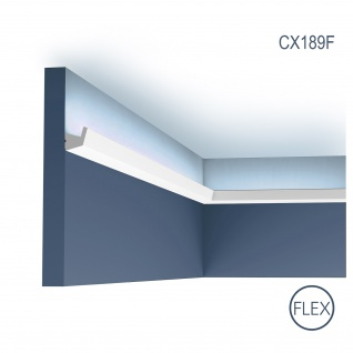 Eckleiste Orac Decor CX189F AXXENT flexible Eckleiste Zierleiste Stuckleiste modernes Design weiß 2 m
