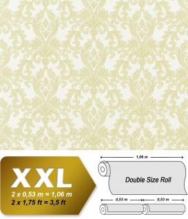 3D Barock Vliestapete XXL EDEM 696-95 Tapete klassischer Stil mit Schnörkeln hell grün beige   10, 65 qm