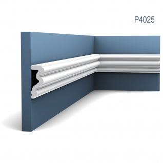 Wand- und Friesleiste Orac Decor P4025 LUXXUS AUTOIRE Zierleiste Stuckleiste Zeitloses Klassisches Design weiß 2 m