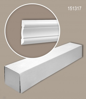 Profhome 151317 1 Karton SET mit 8 Wand- und Friesleisten Zierleisten Stuckleisten | 16 m