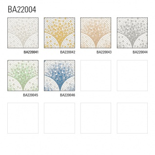 Stein Kacheln Tapete Profhome BA220043-DI heißgeprägte Vliestapete geprägt mit Mosaik Muster glänzend beige weiß 5, 33 m2 - Vorschau 3