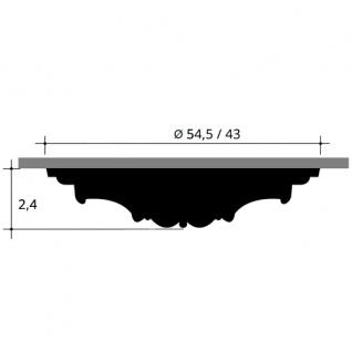 Zierrosette Stuck Orac Decor R66 LUXXUS Rosette Decken Ring Leiste aus stoßfestem Polyurethan weiß 54, 5 cm Durchmesser - Vorschau 2