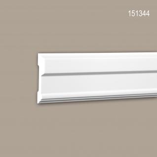 Wand- und Friesleiste PROFHOME 151344 Stuckleiste Zierleiste Wandleiste Neo-Klassizismus-Stil weiß 2 m