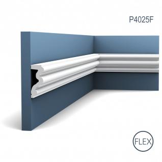 Wand- und Friesleiste Orac Decor P4025F LUXXUS AUTOIRE flexible Zierleiste Stuckleiste Zeitloses Klassisches Design weiß 2 m
