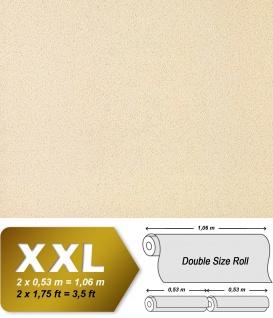 Uni Tapete Vliestapete EDEM 917-21 Tapete in XXL Hochwertige Luxus geprägte Struktur creme-beige perlmutt-weiß | 10, 65 qm