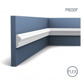 Orac Decor P8030F LUXXUS flexible Wand Leiste Stuckprofil Friesleiste Rahmen Dekor Profil FLEX Leiste stoßfest | 2 Meter - Vorschau 1