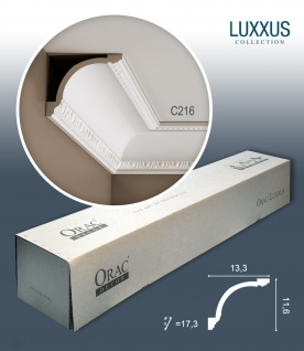 Orac Decor C216 LUXXUS 1 Karton SET mit 12 Eckleisten Stuckleisten | 24 m